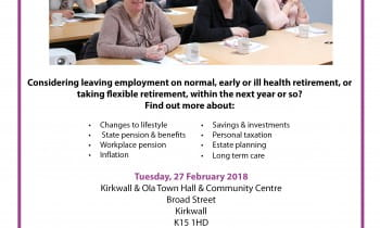 Planning for Retirement Course - Orkney